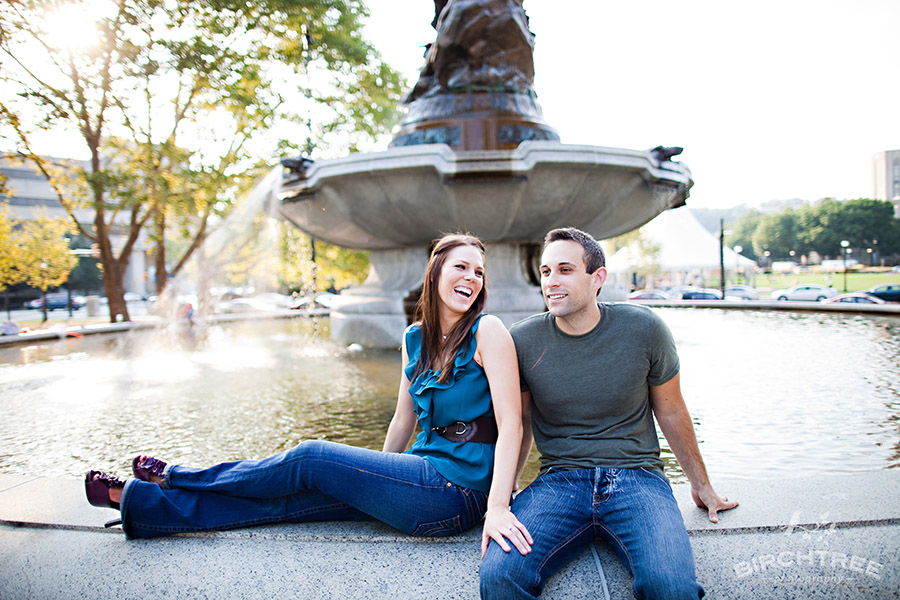 pittsburgh engagement photo