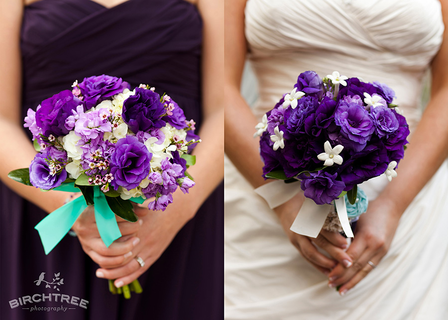 Purple And Teal Wedding Details | Real Wedding Style