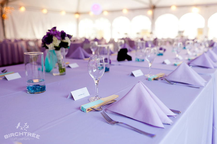 Purple and Teal Wedding Details Real Wedding Style