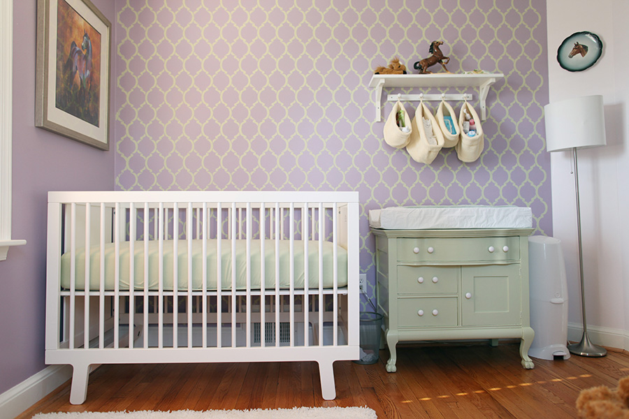 Baby Nursery Photos | A Purple and Green Girl's Nursery