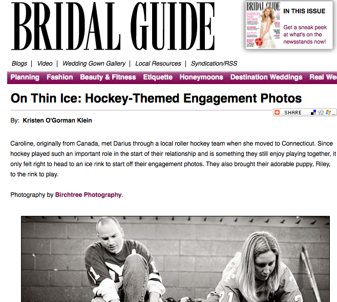hockey themed engagement photos feature